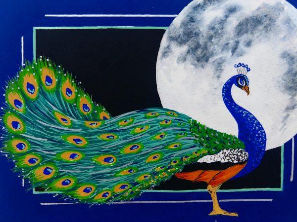 Colleen Biden's Erté-esque Peacock
