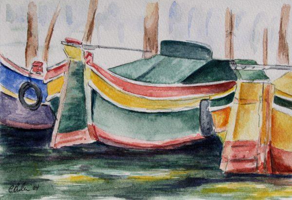 Italian Boats, docked in Venice Italy