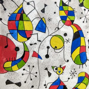 Colleen Biden's Miró-esque Lemurs