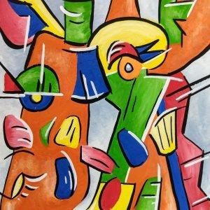 Colleen Biden's Picasso-esque Giraffe