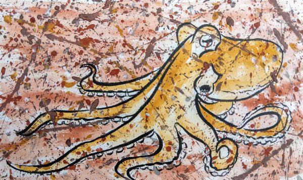 Colleen Biden's Pollock-esque Octopus