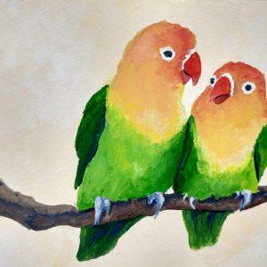 Colleen Biden's Theibaud-esque Love Birds