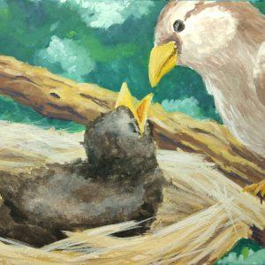 Colleen Biden's Cassat-esque Mother and Chick